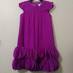 Cat & Jack Girls Purple Chiffon Dress